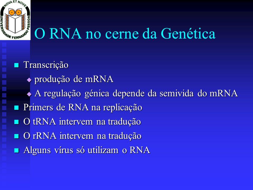 O RNA no cerne da Genética