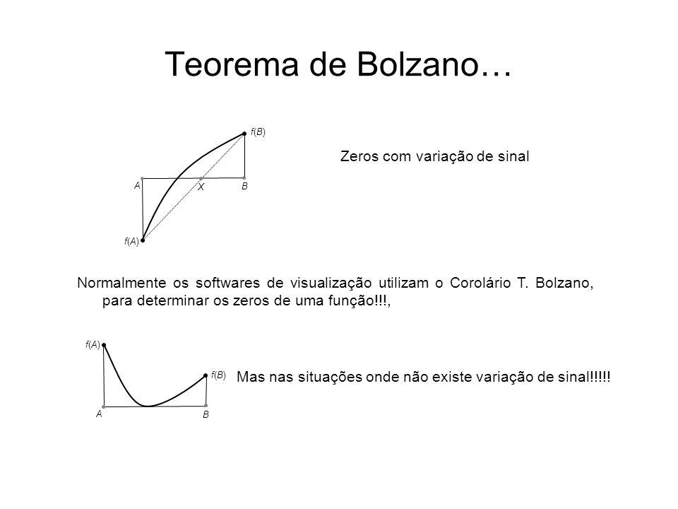 Teorema de Bolzano… Zeros com variação de sinal