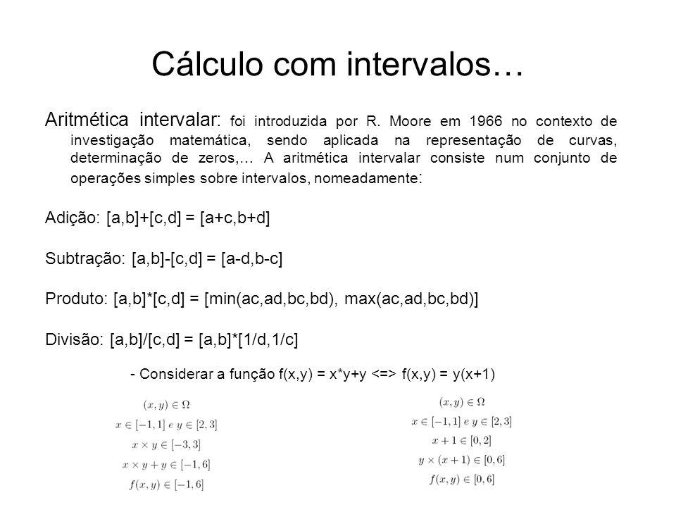 Cálculo com intervalos…