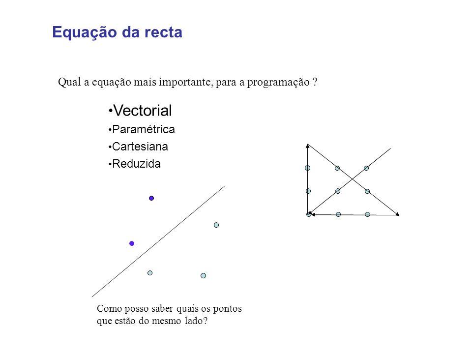 Equação da recta Vectorial