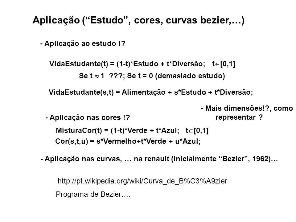 Aplicação ( Estudo , cores, curvas bezier,…)