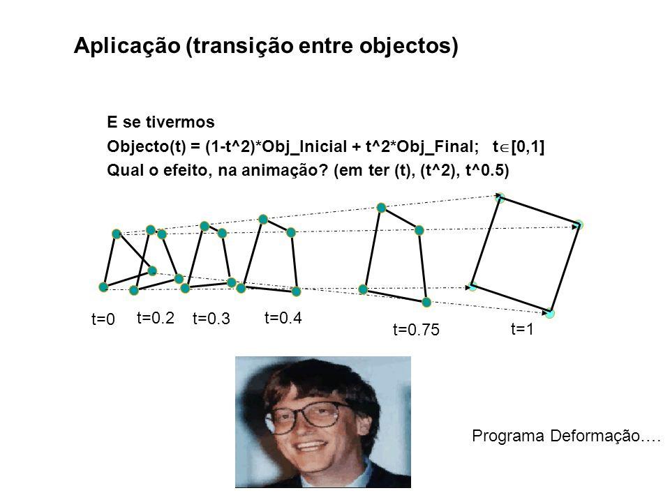 Aplicação (transição entre objectos)
