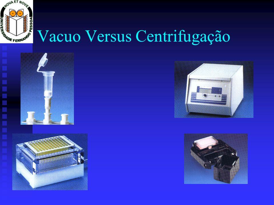 Vacuo Versus Centrifugação
