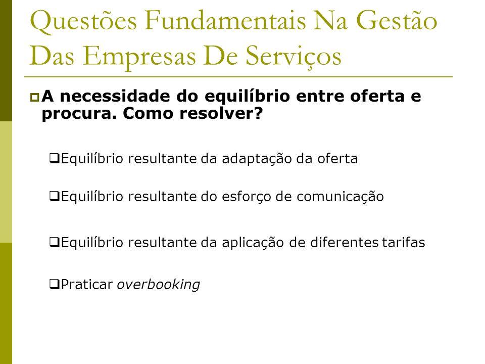 Questões Fundamentais Na Gestão Das Empresas De Serviços