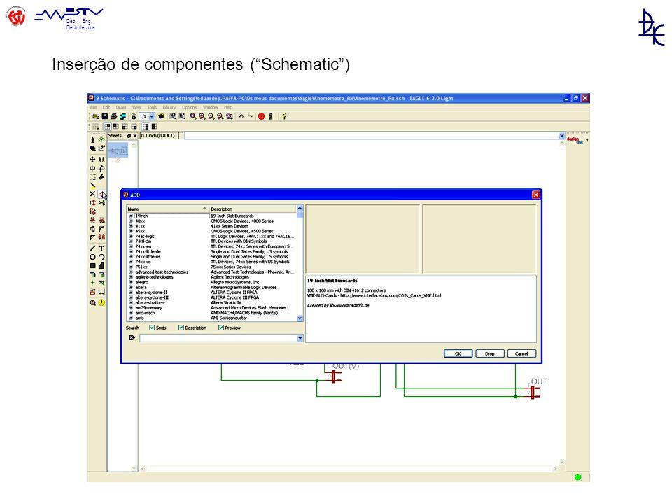 Inserção de componentes ( Schematic )