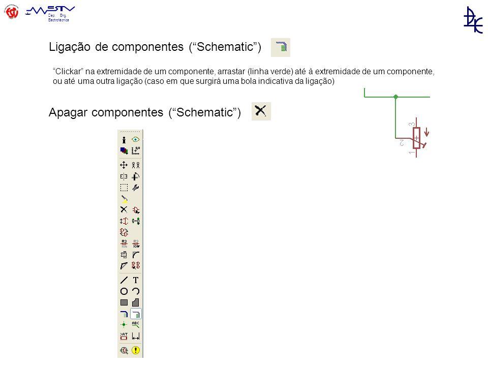 Ligação de componentes ( Schematic )