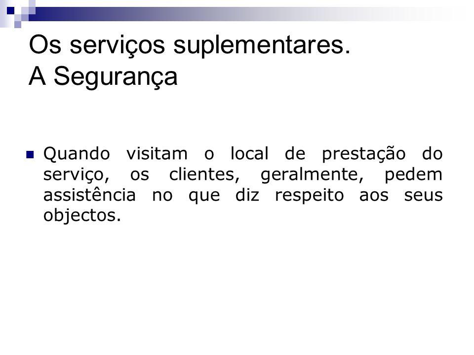 Os serviços suplementares. A Segurança