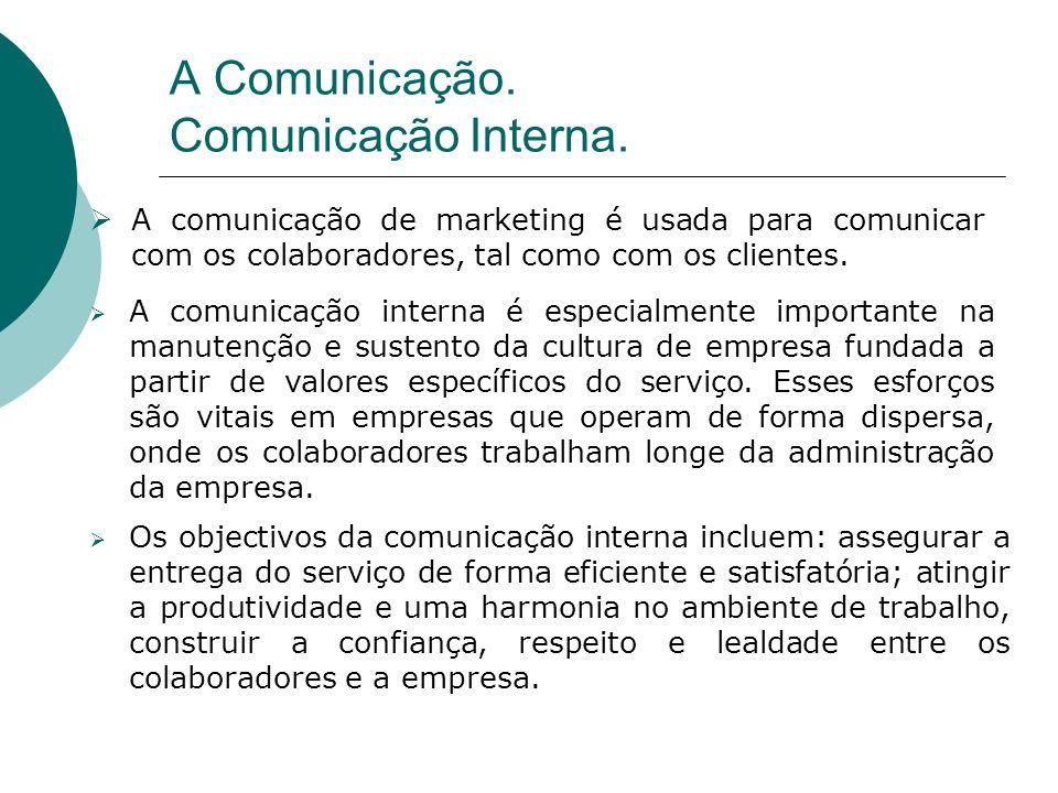 A Comunicação. Comunicação Interna.