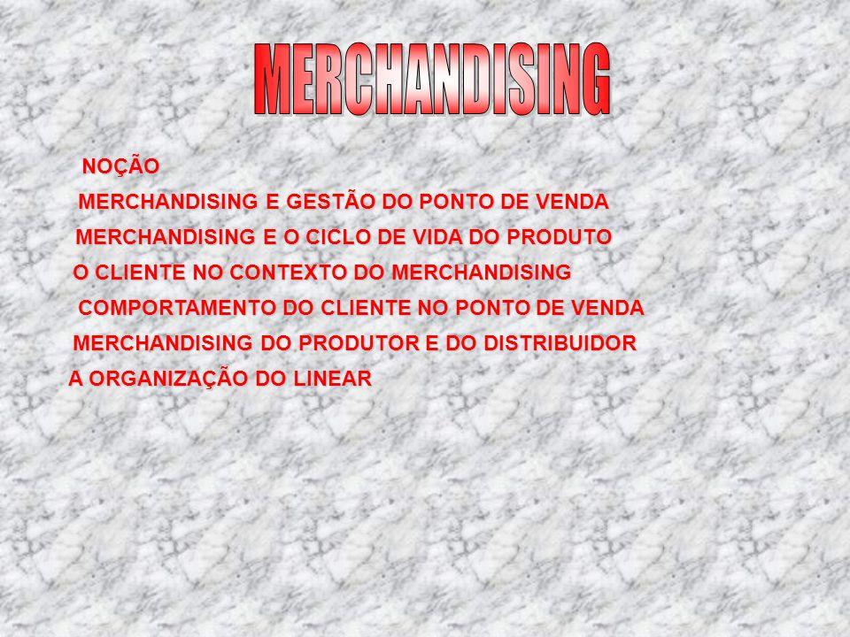 MERCHANDISING NOÇÃO MERCHANDISING E GESTÃO DO PONTO DE VENDA