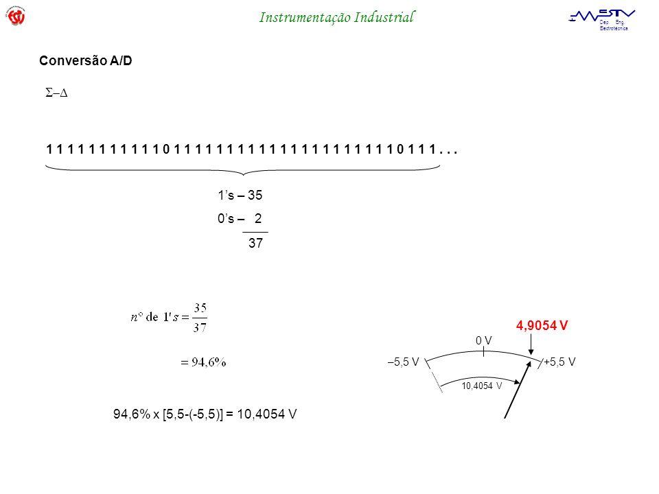 Conversão A/DS-D. 1 1 1 1 1 1 1 1 1 1 1 0 1 1 1 1 1 1 1 1 1 1 1 1 1 1 1 1 1 1 1 1 1 0 1 1 1 . . . 1's – 35.