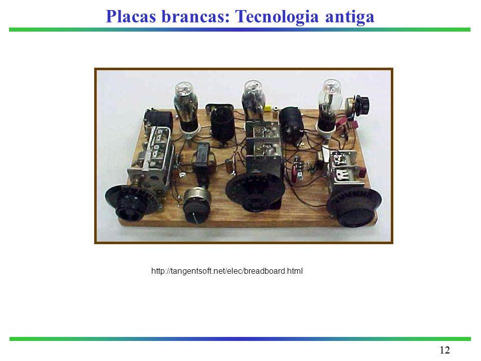Placas brancas: Tecnologia antiga