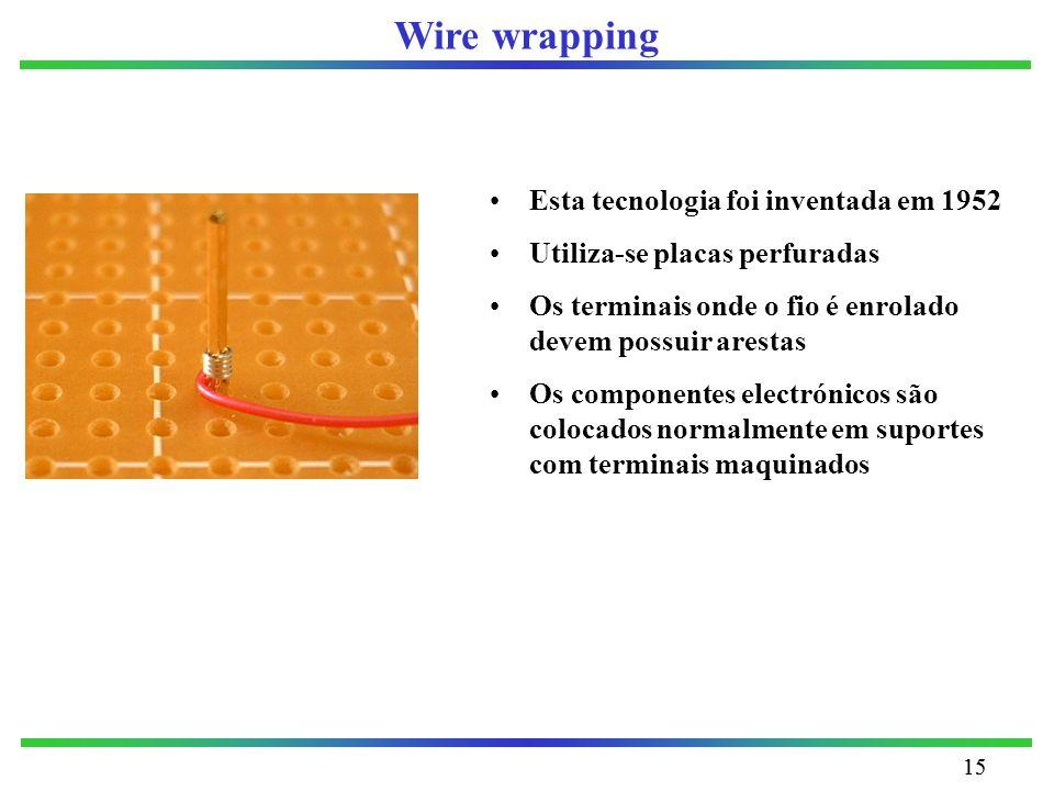 Wire wrapping Esta tecnologia foi inventada em 1952