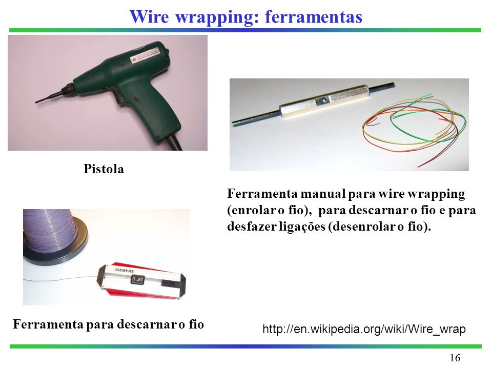 Wire wrapping: ferramentas
