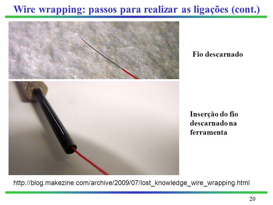 Wire wrapping: passos para realizar as ligações (cont.)