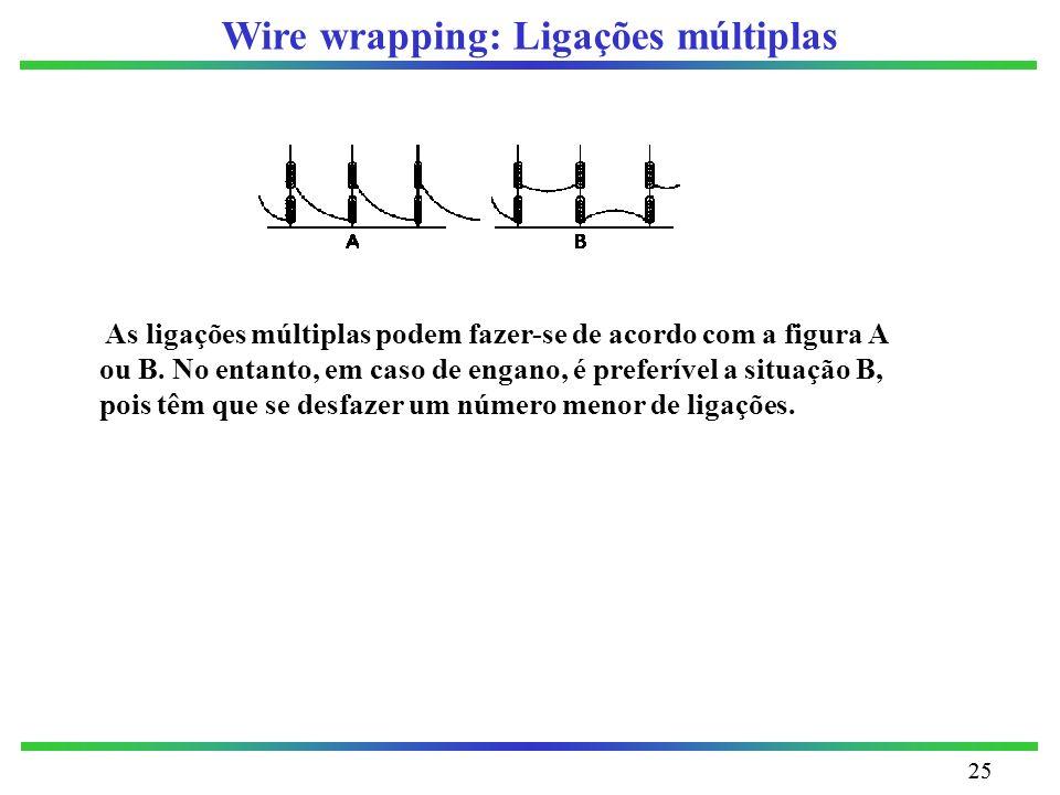 Wire wrapping: Ligações múltiplas