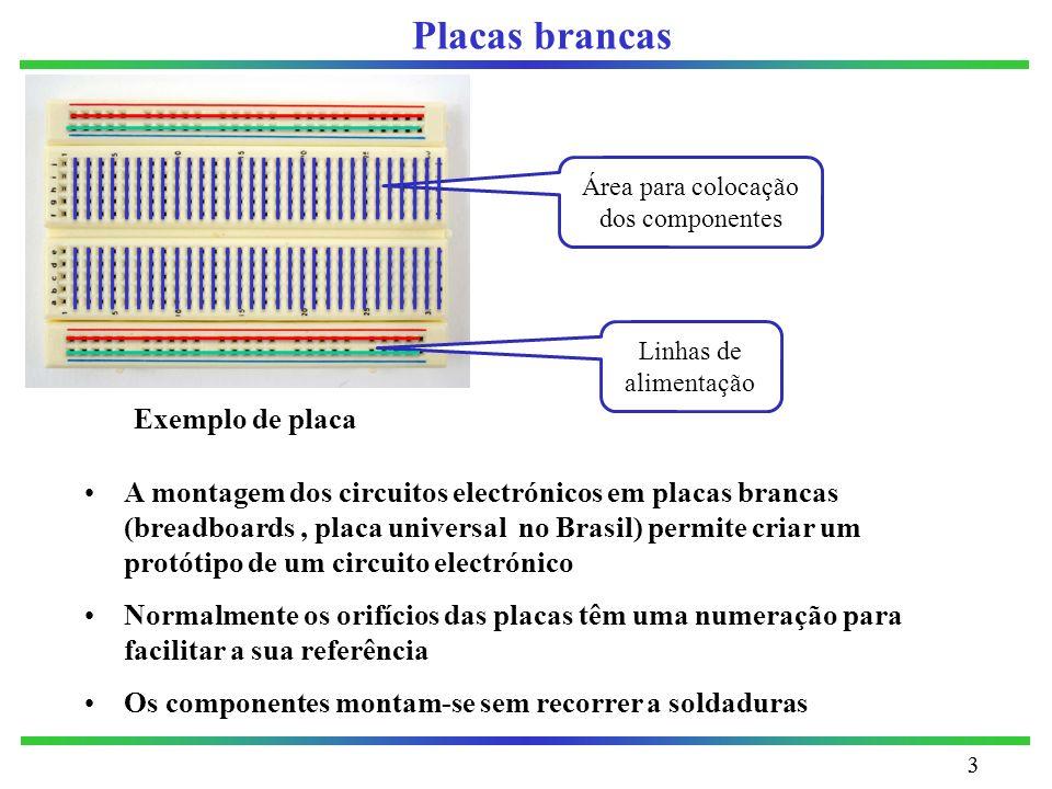 Área para colocação dos componentes