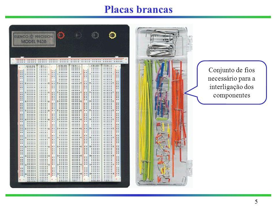 Conjunto de fios necessário para a interligação dos componentes