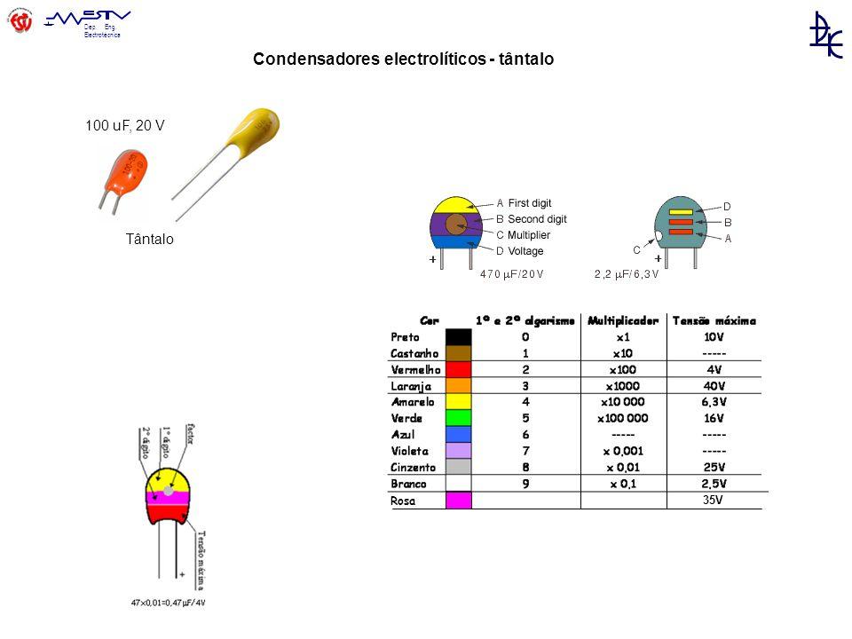 Condensadores electrolíticos - tântalo