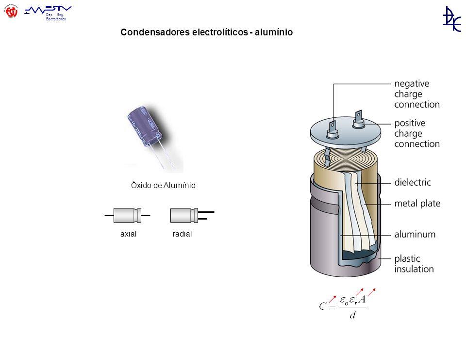 Condensadores electrolíticos - alumínio
