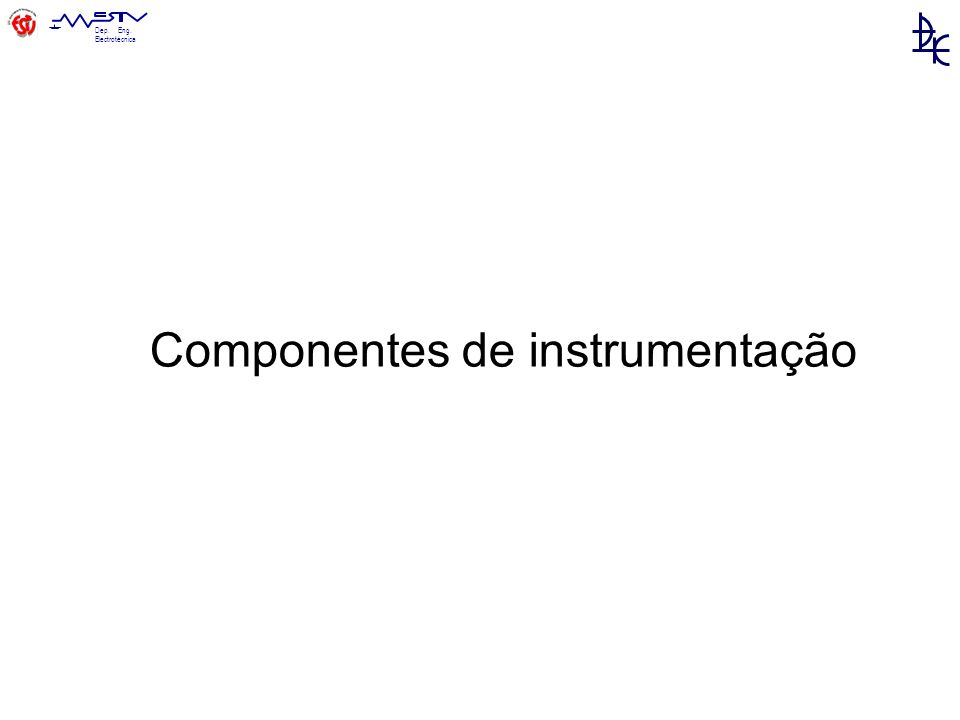 Componentes de instrumentação