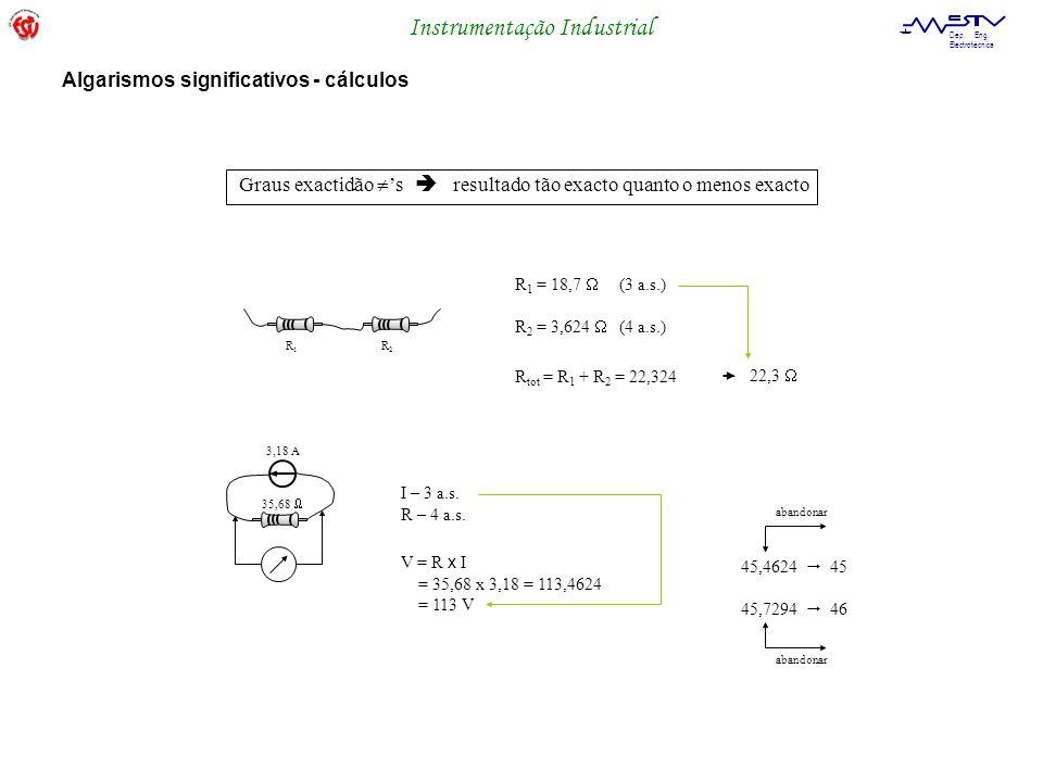 Algarismos significativos - cálculos