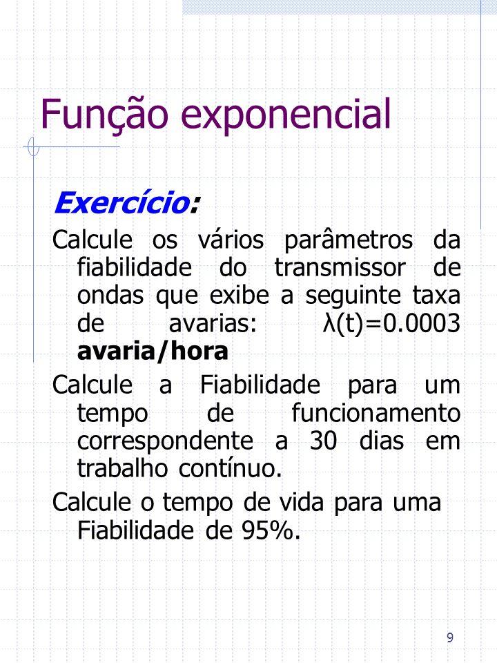 Função exponencial Exercício: