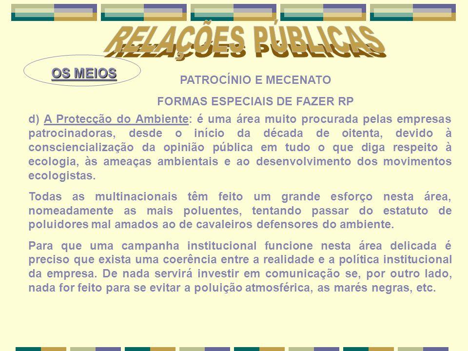 FORMAS ESPECIAIS DE FAZER RP