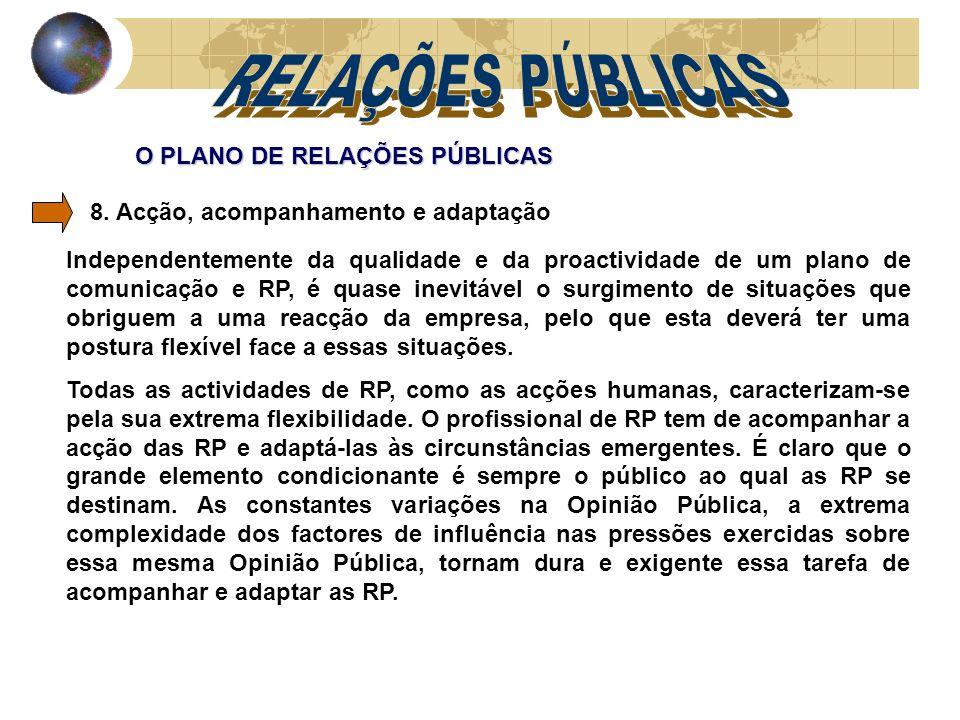 O PLANO DE RELAÇÕES PÚBLICAS