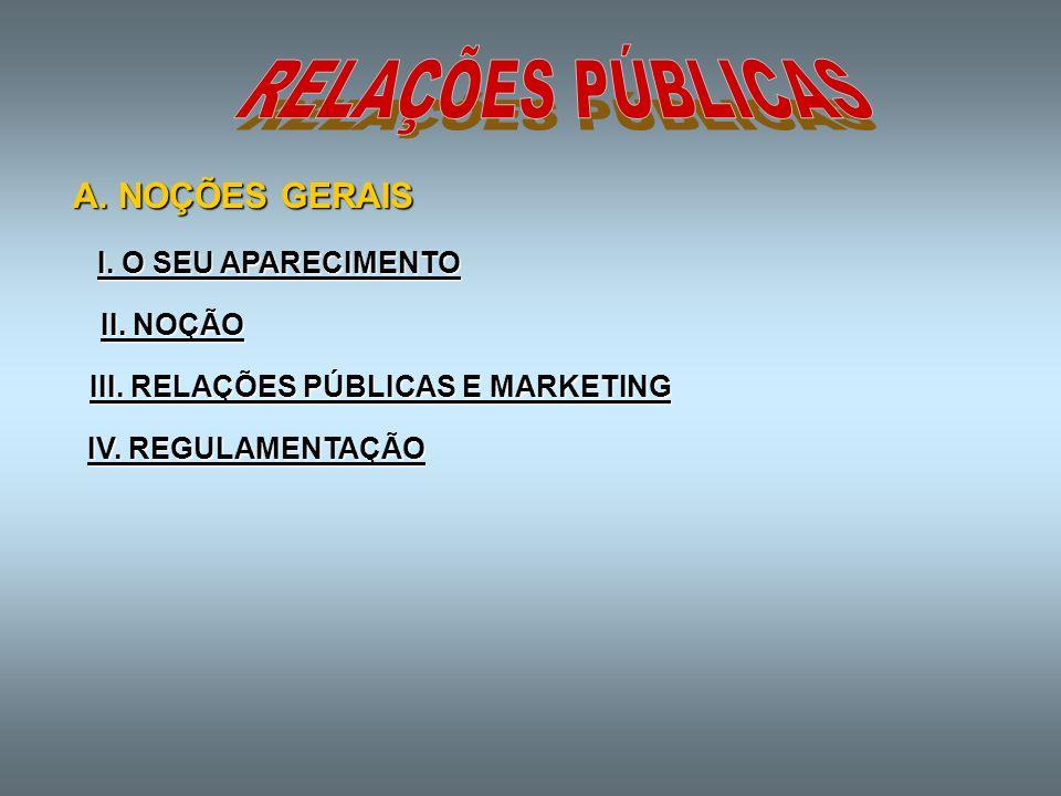 III. RELAÇÕES PÚBLICAS E MARKETING