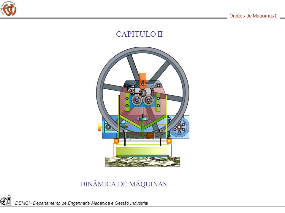 CAPITULO II DINÂMICA DE MÁQUINAS Órgãos de Máquinas I