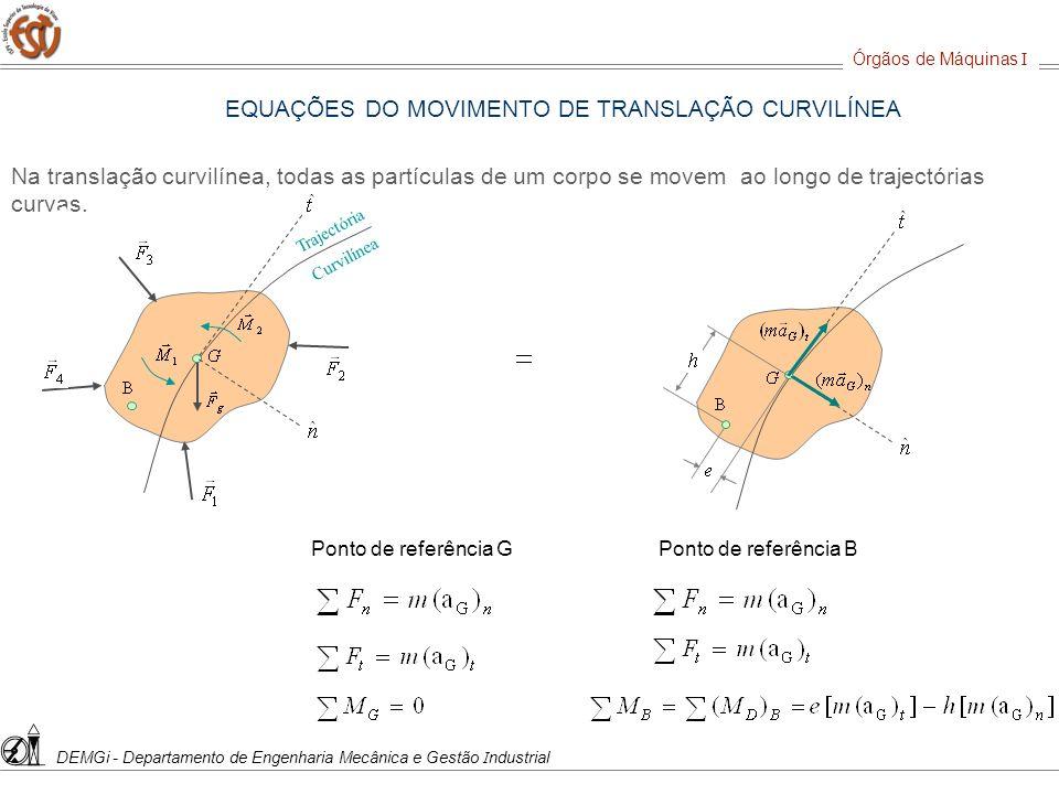 EQUAÇÕES DO MOVIMENTO DE TRANSLAÇÃO CURVILÍNEA