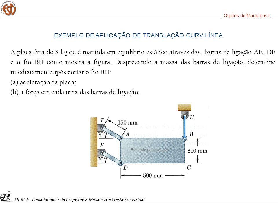(a) aceleração da placa;