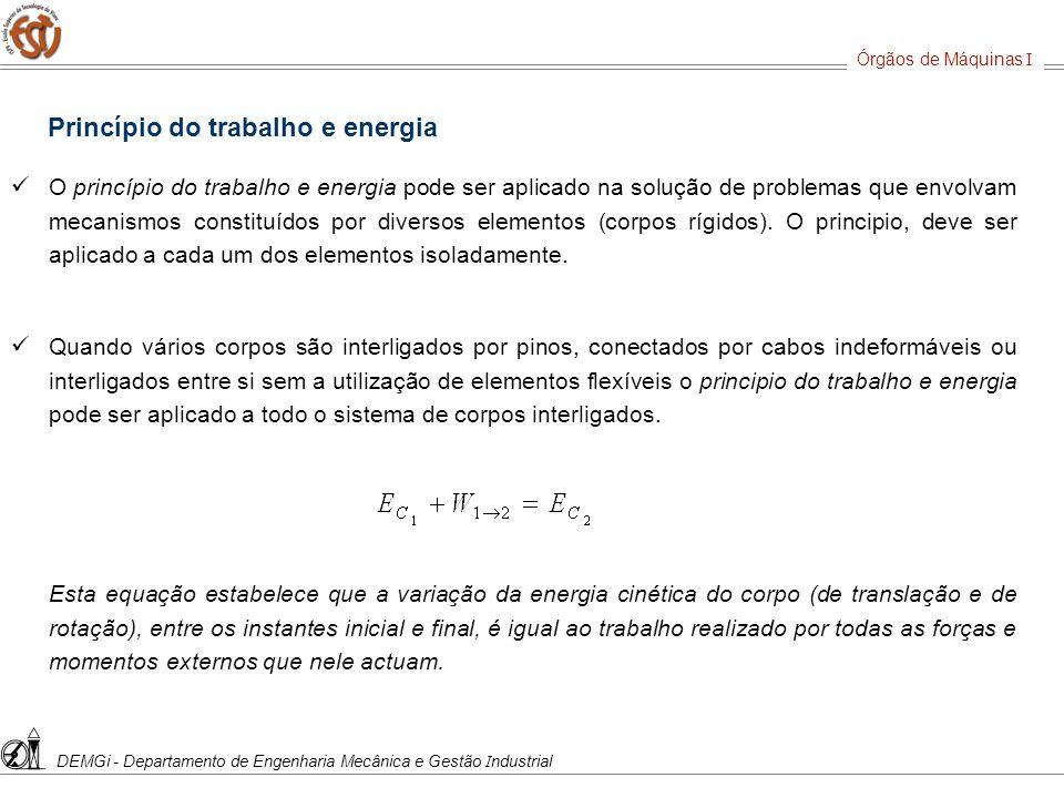 Princípio do trabalho e energia