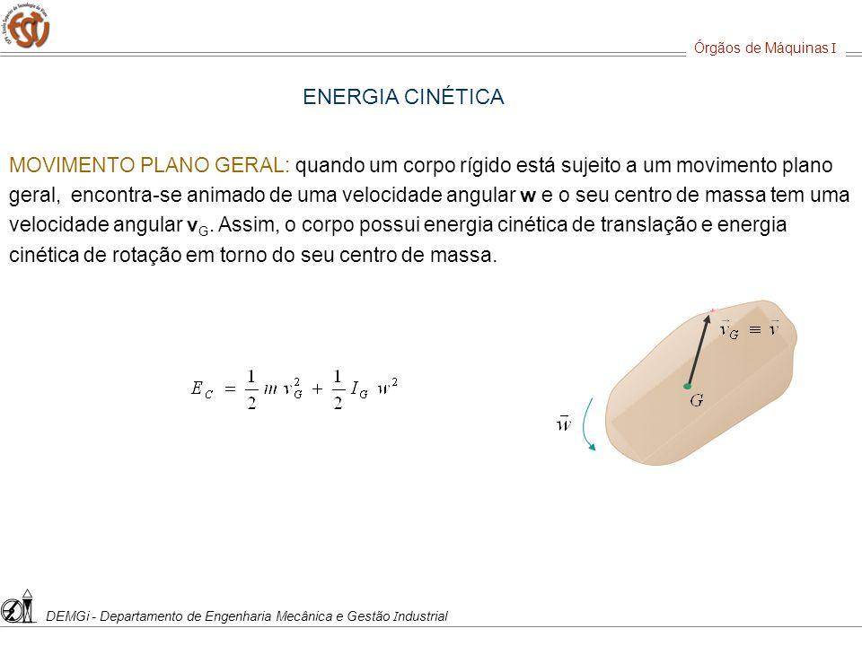 Órgãos de Máquinas IDEMGi - Departamento de Engenharia Mecânica e Gestão Industrial. ENERGIA CINÉTICA.