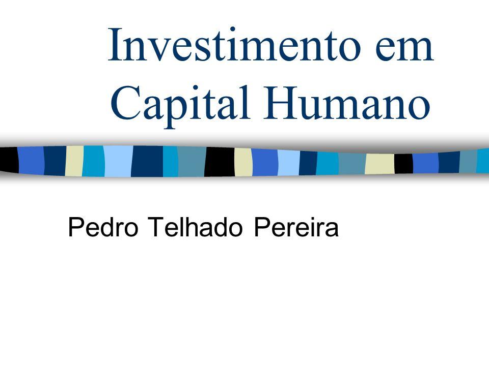 Investimento em Capital Humano