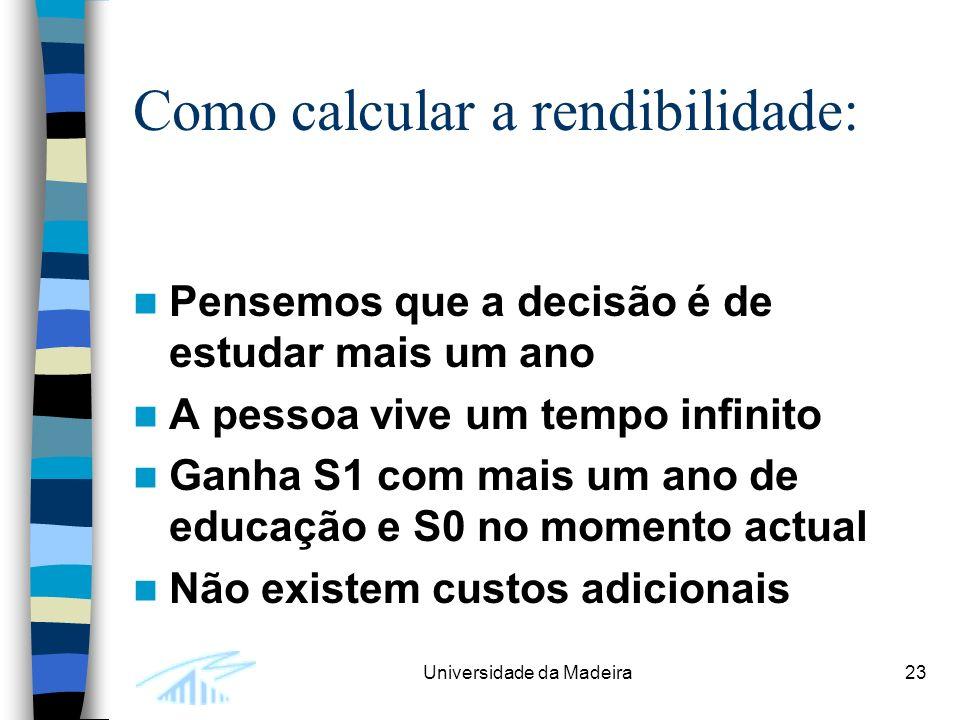 Como calcular a rendibilidade: