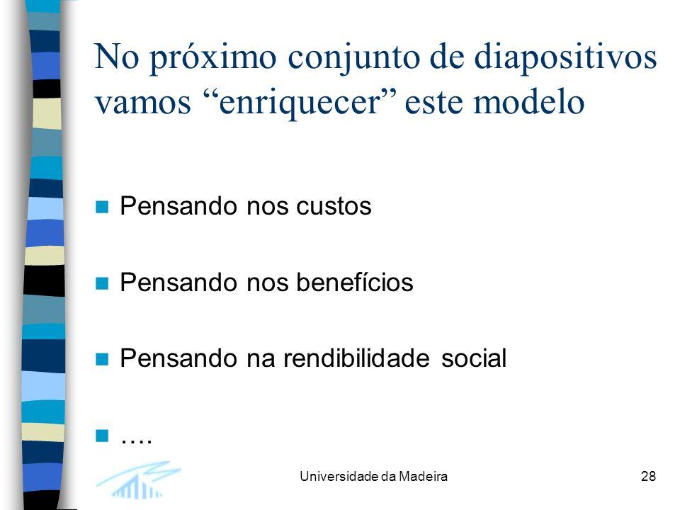 No próximo conjunto de diapositivos vamos enriquecer este modelo