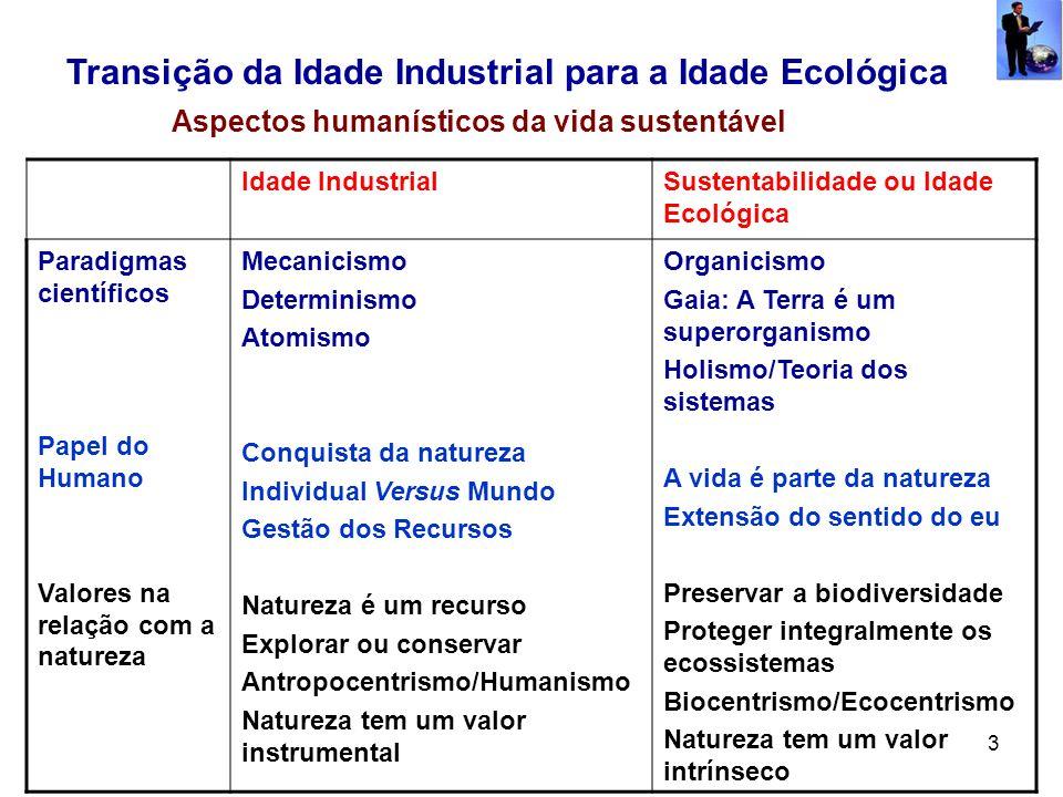 Transição da Idade Industrial para a Idade Ecológica