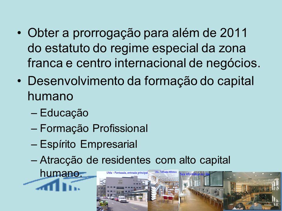 Desenvolvimento da formação do capital humano
