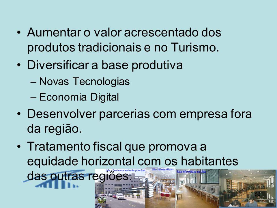 Aumentar o valor acrescentado dos produtos tradicionais e no Turismo.