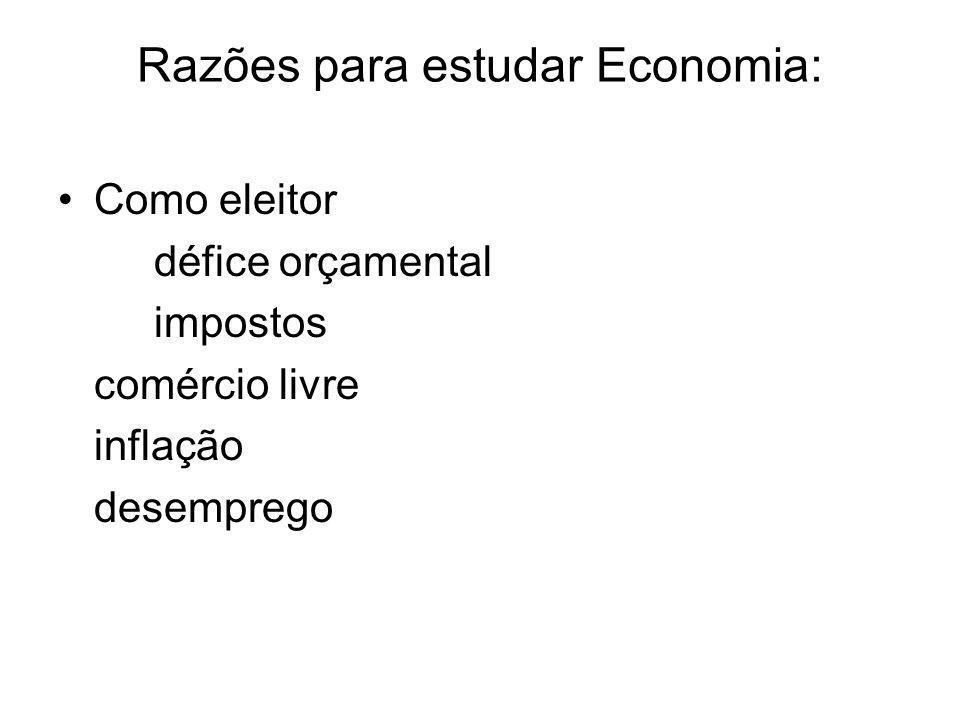 Razões para estudar Economia: