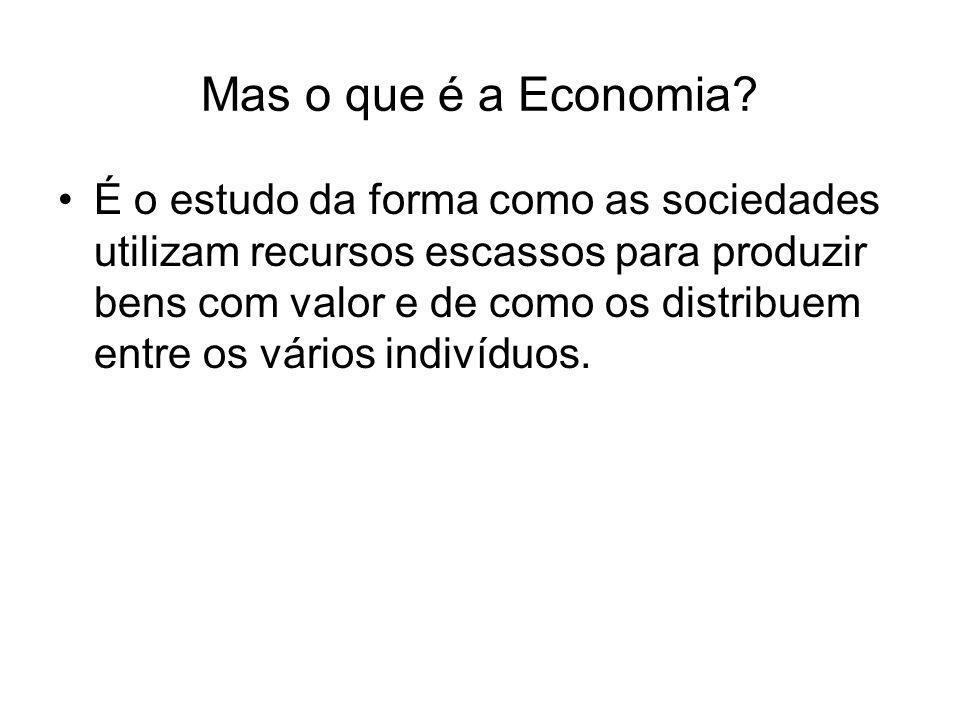 Mas o que é a Economia