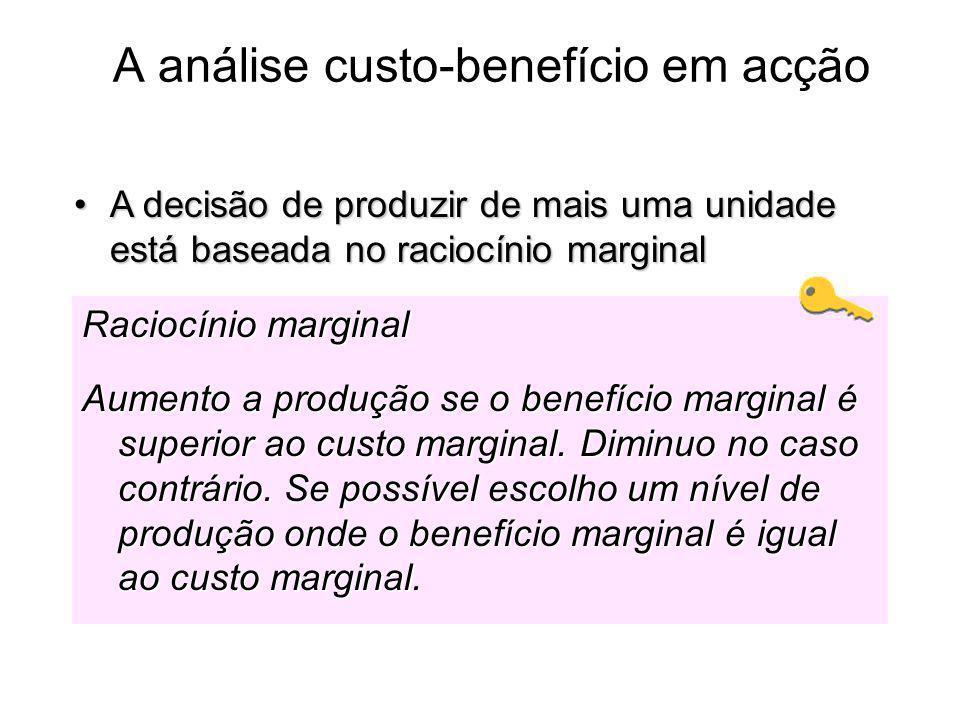 A análise custo-benefício em acção