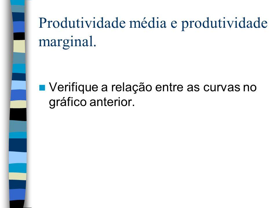 Produtividade média e produtividade marginal.