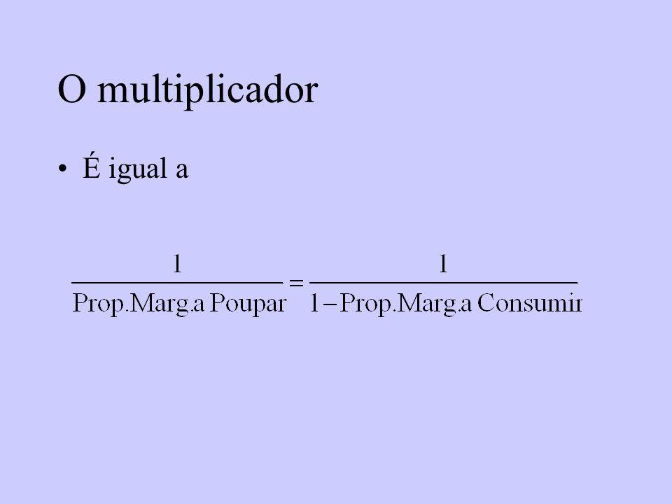 O multiplicador É igual a
