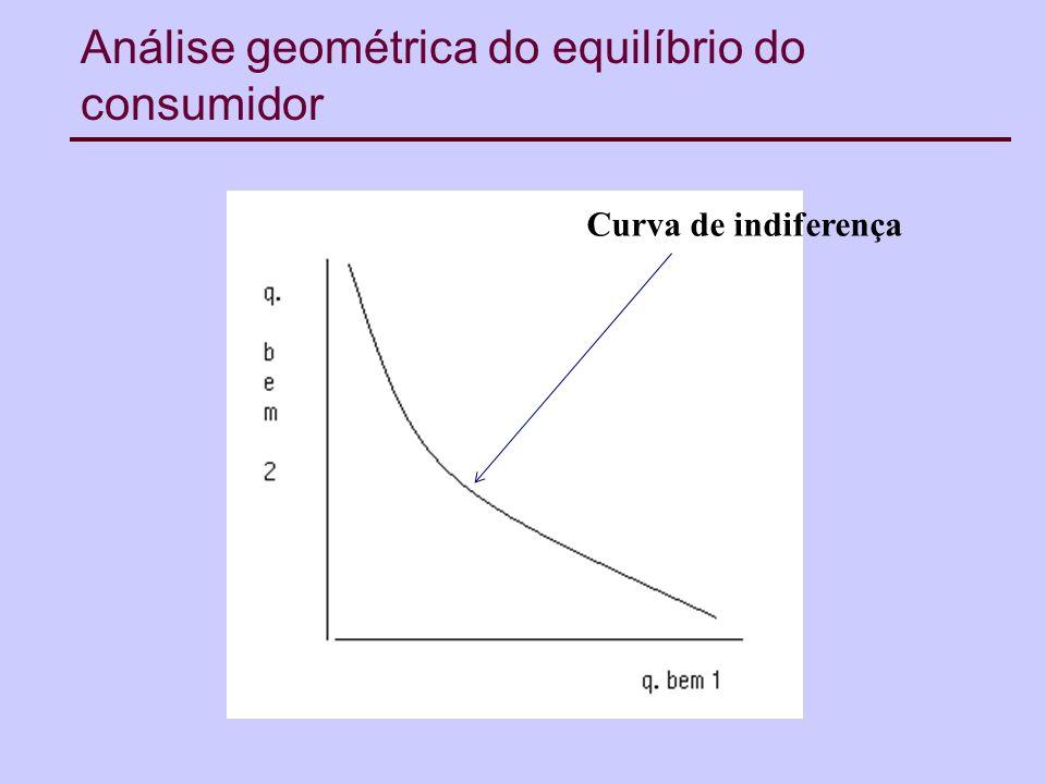 Análise geométrica do equilíbrio do consumidor