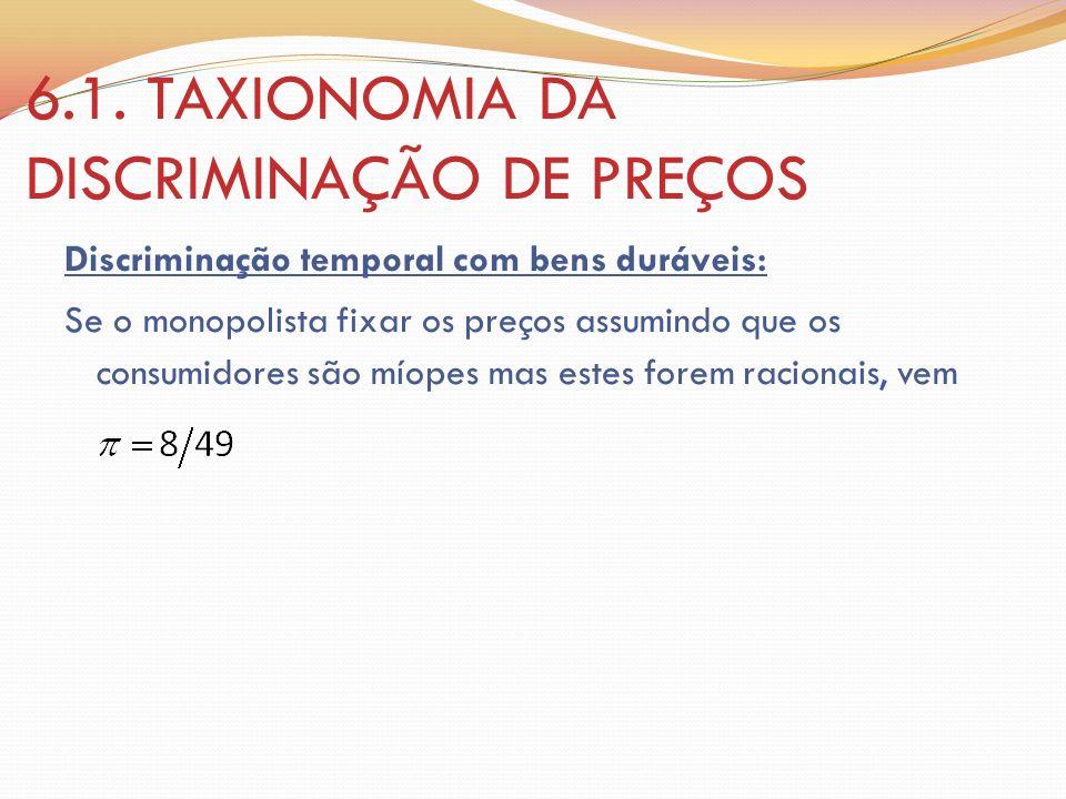6.1. TAXIONOMIA DA DISCRIMINAÇÃO DE PREÇOS