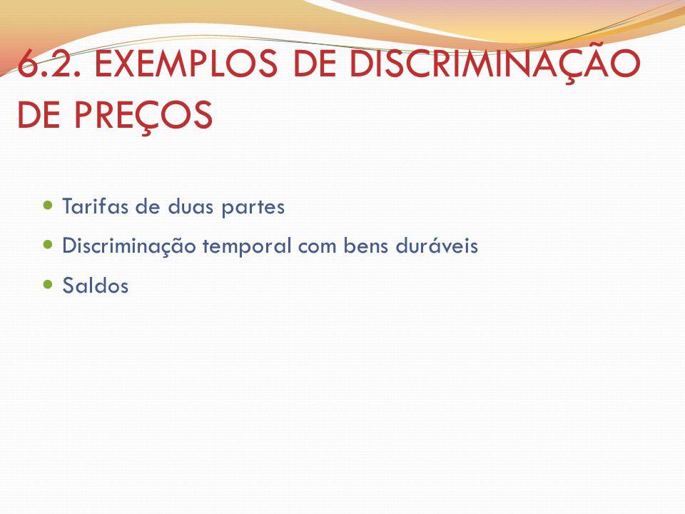 6.2. EXEMPLOS DE DISCRIMINAÇÃO DE PREÇOS