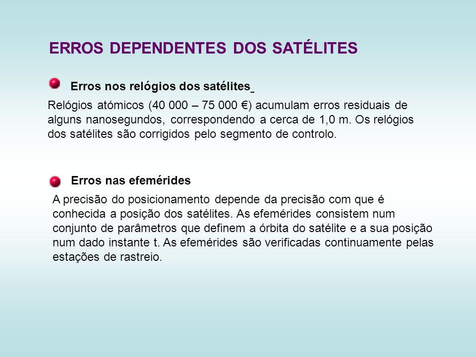 ERROS DEPENDENTES DOS SATÉLITES