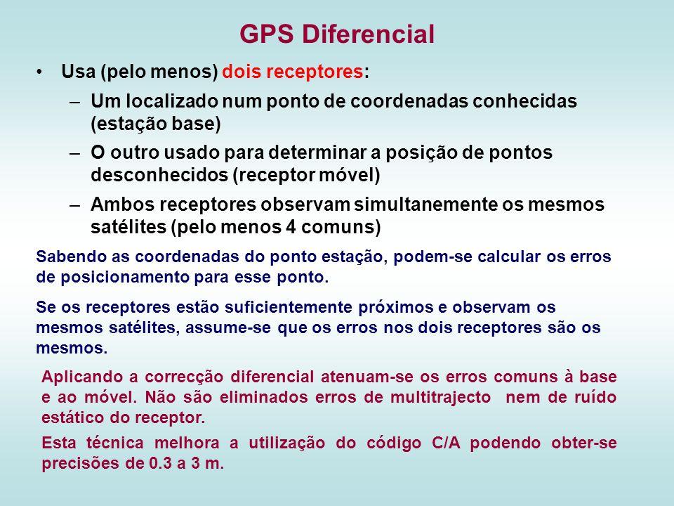 GPS Diferencial Usa (pelo menos) dois receptores: